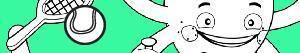 Coloriages Pypus et les sports à colorier