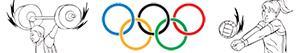 Coloriages Sports olympiques. Divers à colorier